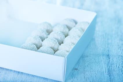 Rezept für Mandel-Kokosbällchen ohne Zucker