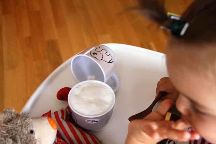 Baby-Cappuccino - ratz ratz ausgelöffelt!