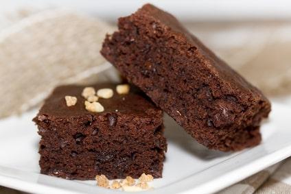 Rezept für Schoko-Brownies ohne Mehl und ohne Zucker