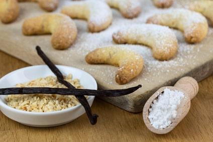 Rezept für Vanillekipferl ohne Zucker