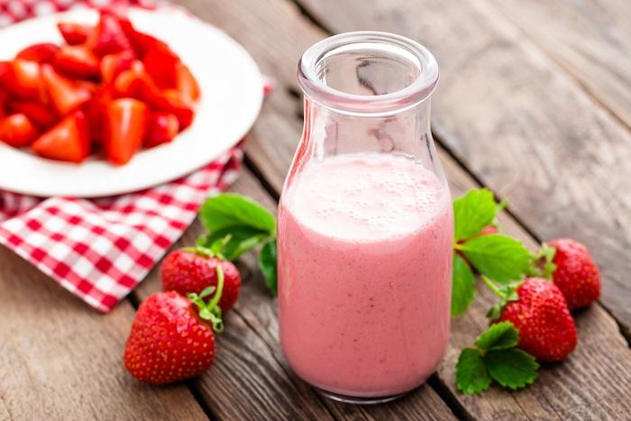Erdbeer-Smoothie ohne Zucker