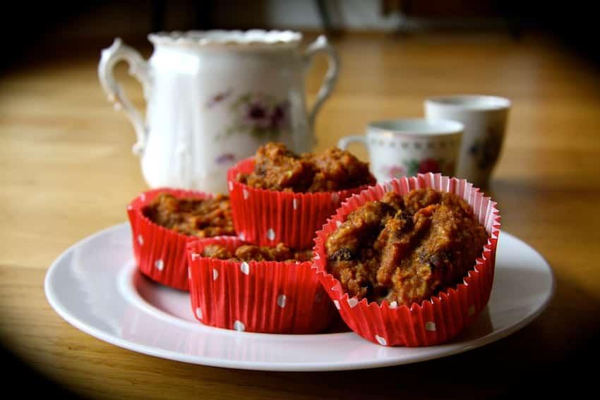 Rezept für Apfel-Möhren-Muffins ohne Zucker