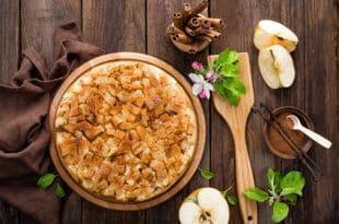 Rezept für einen Apfelkuchen ohne Zucker