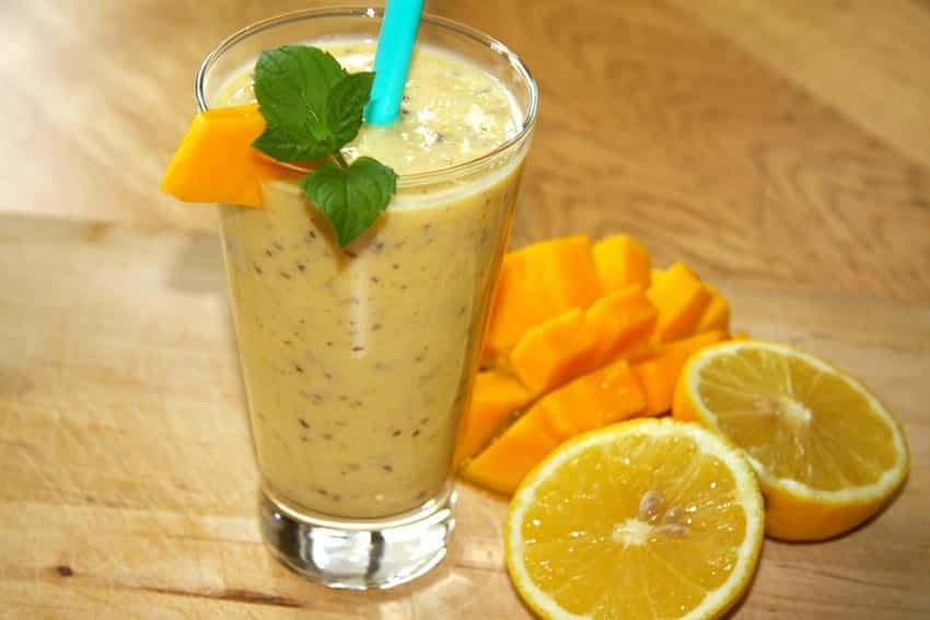 Rezept für einen zuckerfreien Mango-Shake