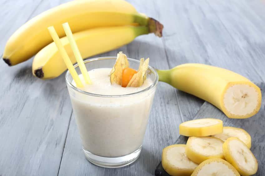 Bananenmilch ohne Zucker