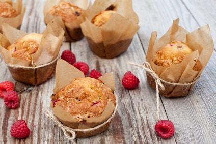 Rezept für Himbeer-Buttermilch-Muffins ohne Zucker