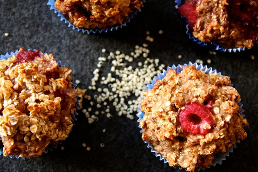 Beeren-Quinoa-Muffins