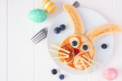 Bananen Pancakes - perfekt zum Osterfrühstück