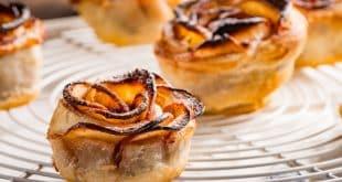 Apfel-Blätterteig-Küchlein ohne Zucker