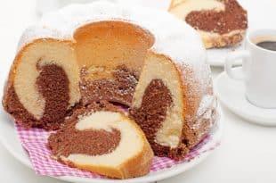 Marmorkuchen ohne Zucker