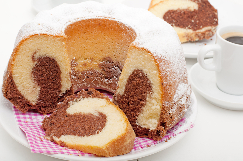 Zuckerfreier Marmorkuchen
