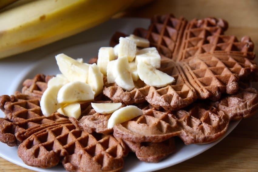 Schoko-Bananenwaffeln ohne Zucker