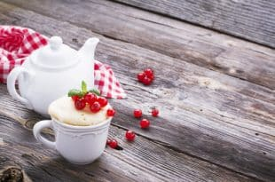 Rezept für einen Zitronen-Tassenkuchen ohne Zucker