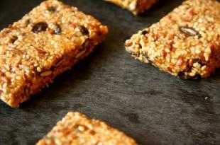 Rezept für Sesam-Honig-Riegel ohne Zucker