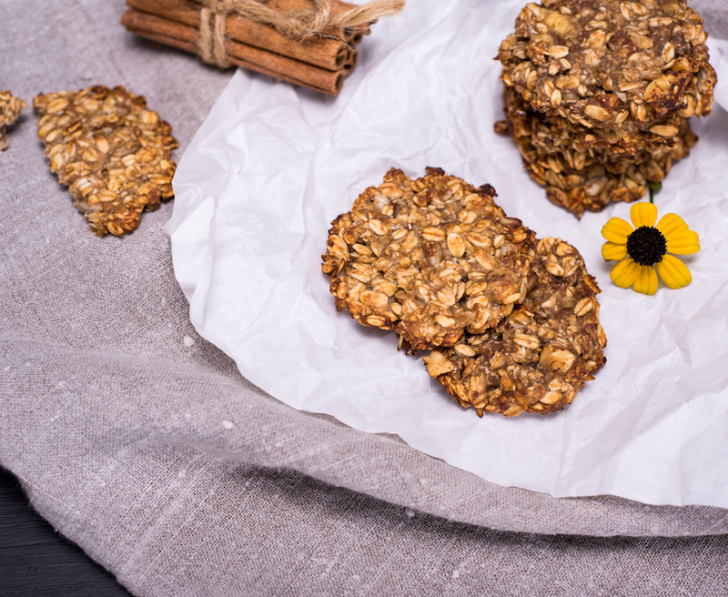 Hafer-Bananen-Kekse ohne Zucker