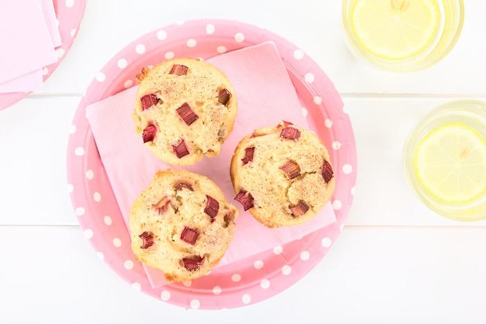 Rhabarber-Muffins ohne Zucker