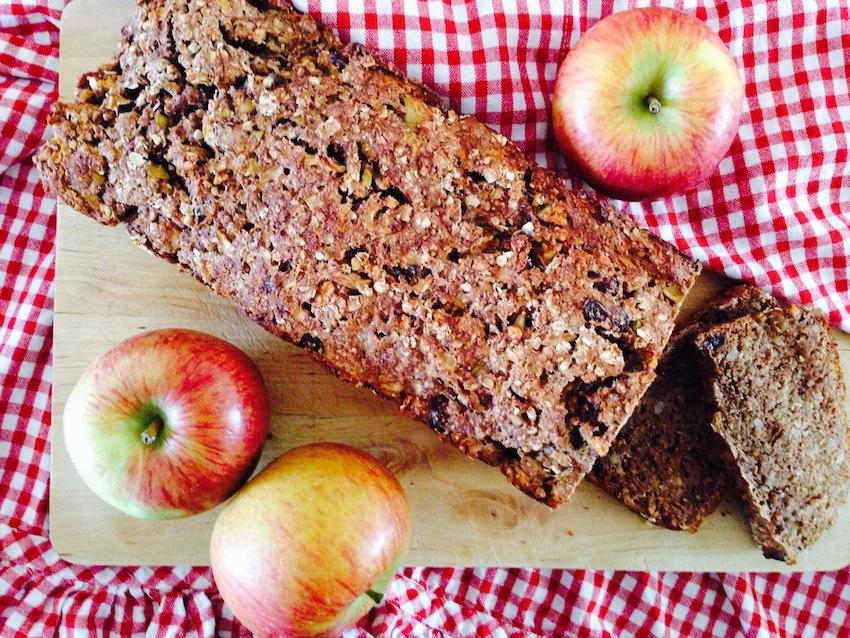 Rezept für ein Apfelbrot ohne Zucker