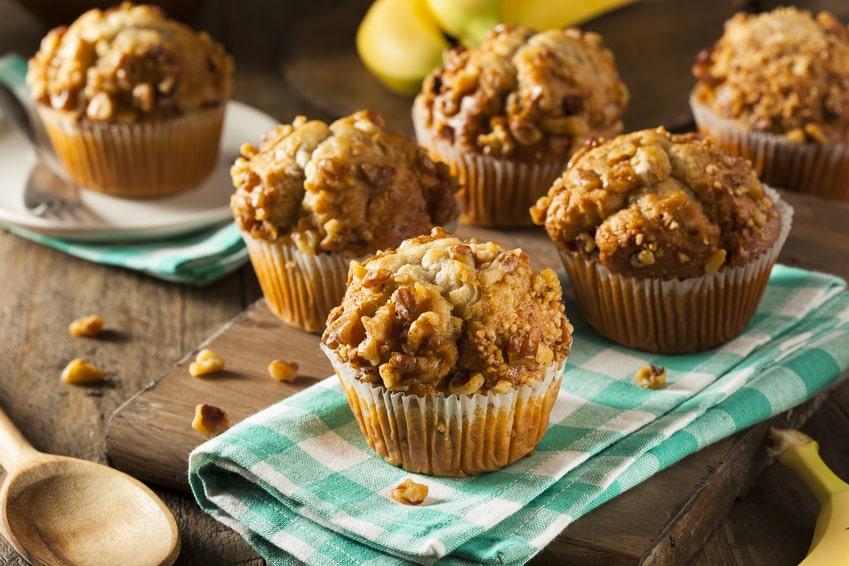 Rezept für Bananenmuffins ohne Zucker