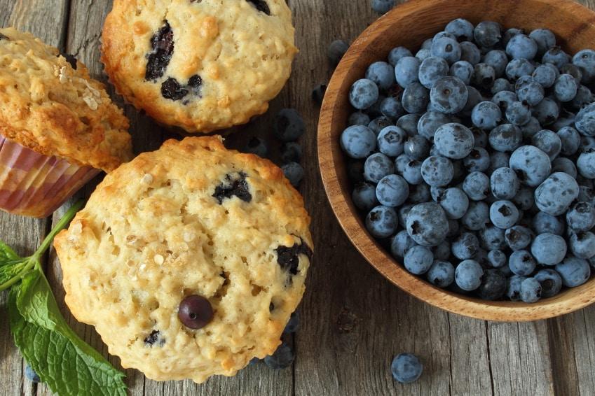 Rezept für Blaubeermuffins ohne Zucker